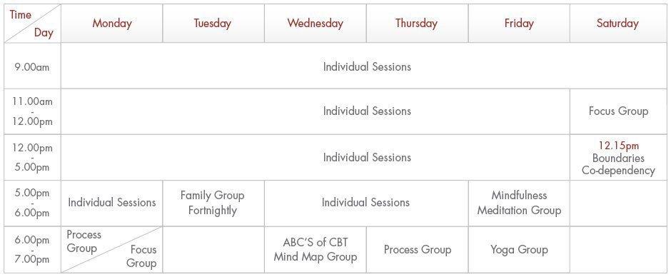 Sydney Schedule